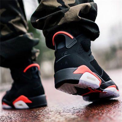 Air Jordan 6 AJ6 乔6 黑红19复刻 女子篮球鞋 384665-060