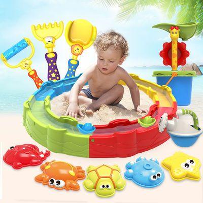 浴室洗澡玩沙挖沙漏花洒戏水工具宝宝儿童沙滩玩具套装大号2-6岁
