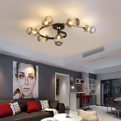 北欧风格客厅卧室吸顶灯具简约现代餐厅灯创意铁艺螺旋led吸顶灯