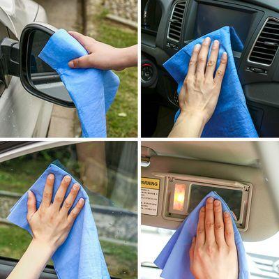 加厚鹿皮巾洗车毛巾干发吸水巾宠物巾擦头发玻璃合成鸡皮布擦车巾
