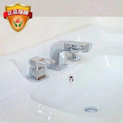 浴室柜洗脸盆欧式龙头三孔四孔抽拉式镀金水龙头神灯三件套四件套