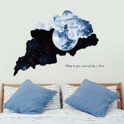 3D立体墙贴纸海报星空天花板屋顶墙壁装饰品卧室背景创意房顶贴画