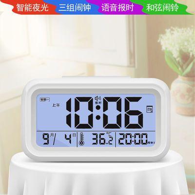 多功能电子静音儿童数字夜光学生闹钟床头创意简约卧室智能时钟表