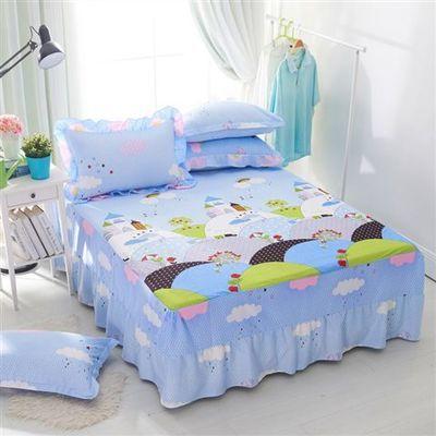 100%全棉卡通男女孩床裙四件套纯棉床罩被套4件套1.2米1.5m1.8M床【2月29日发完】