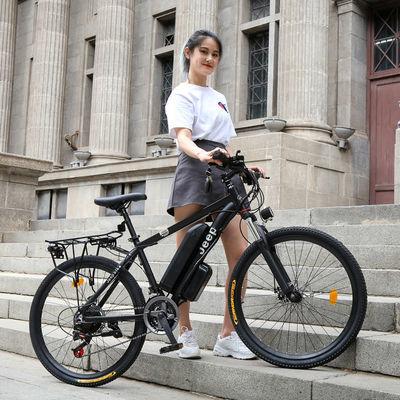吉普JEEP 电动车自行车锂电助力山地车成人学生单车男女双碟刹36V