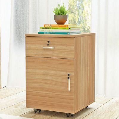 移动文件柜落地式矮柜活动柜子储物柜床头柜带锁抽屉资料柜活动柜