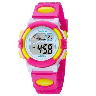 儿童手表女孩防水男孩个性可爱夜光小学生手表数字式运动童电子表【2月29日发完】