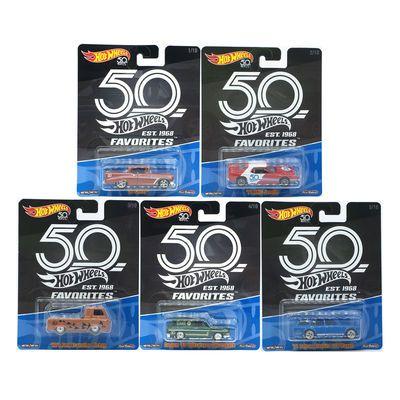 风火轮50周年玩家挚爱系列 珍藏版小车模型达特桑旅行车 卡车大众