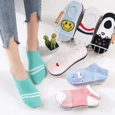 2/4双 春秋学院风日系条纹堆堆袜女韩版中筒袜子女个性韩国潮长筒