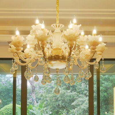 欧式玉石吊灯玉石客厅灯奢华大气卧室餐厅家用大厅简欧别墅灯具