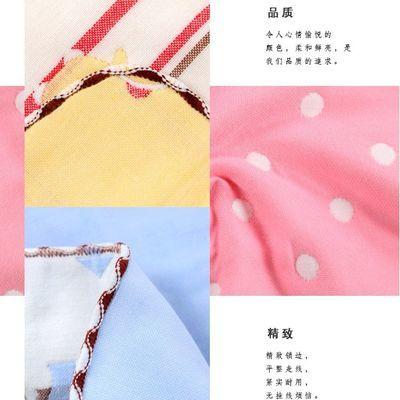 【410条装纯棉方巾】六层纱布小方巾婴儿口水巾洗脸小毛巾喂奶巾