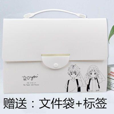 十三格手提风琴包男女韩版多层插页文件夹中学生试卷夹透明文件袋