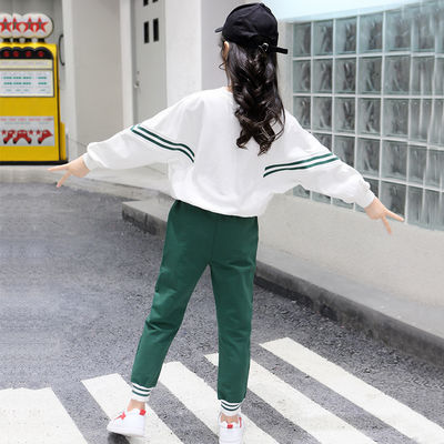 女童款儿童装时髦件套儿童防晒衣韩版童装女秋装潮衣两件套套装