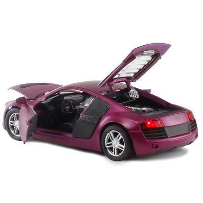 合金汽车模型仿真跑车越野车儿童男孩玩具小汽车玩具车声光回力