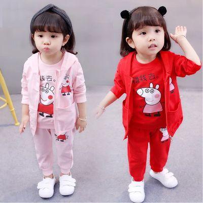 童装女宝宝布衣女童件套宝宝夏装儿童秋装套装春装童套三件套新款