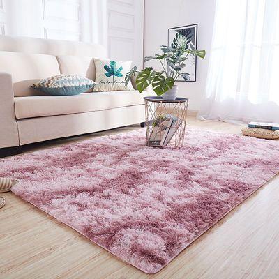 地毯卧室长毛网红可爱少女心满铺床边毯客厅茶几长绒毯可定制地垫