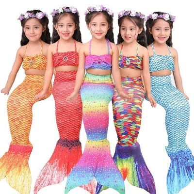 美人鱼尾巴!儿童女童女孩美人鱼衣服服装 美人鱼泳衣套装鱼尾巴