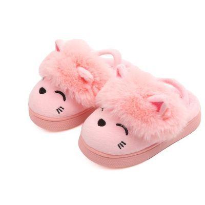 女宝冬季棉拖鞋1-3岁2女宝宝婴儿女童婴幼儿秋季防滑软底秋冬拖鞋