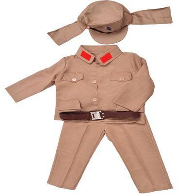 儿童日本兵演出服装抗日舞台表演服饰皇军鬼子太君大佐军装合唱服