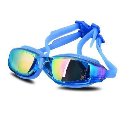 电镀泳镜专业潜水镜成人大框男女通用防水防雾平光游泳镜泳帽套装