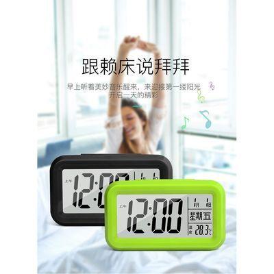 多功能闹钟创意学生电子静音床头卧室夜光儿童卡通贪睡聪明小钟表