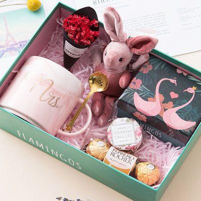 火烈鸟马克杯礼盒520母亲节女生生日礼物送闺蜜女友爱人老婆创意