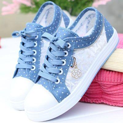 秋款中大童儿童布鞋学生小女孩韩版休闲板鞋子女童平底帆布鞋单鞋