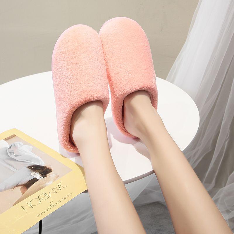 居家棉鞋新款日式情侶秋冬季棉拖鞋女居家室內保暖可愛拖鞋男加厚毛托鞋男