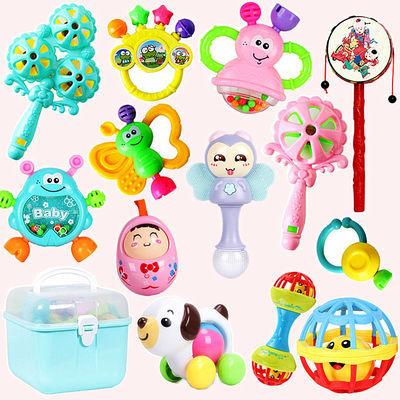 婴儿玩具0到3-6-8个月新生益智宝宝拨浪鼓手摇铃牙胶球男女孩1岁2