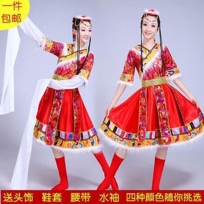 女装民族舞蹈服装表演服饰西藏蒙古广场舞水袖藏族舞蹈演出服装