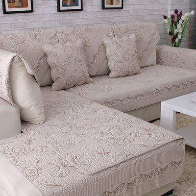 优尚沙发垫布艺防滑坐垫四季全棉沙发巾冬季欧式简约实木沙发套