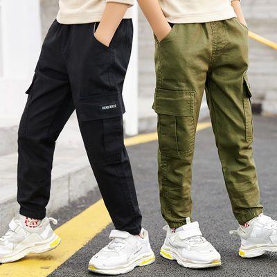 童装男童裤子2020春秋新款儿童工装裤休闲洋气韩版中大童宽松长裤