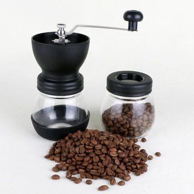 玻璃咖啡磨豆机 手动磨粉机 手摇便携式可水洗咖啡豆研磨机家用【2月29日发完】