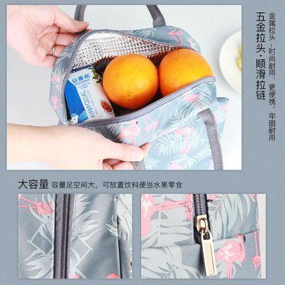 德玛斯饭盒袋保鲜盒便当包手提包条纹带饭手拎帆布袋学生拎午餐【2月29日发完】