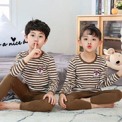 【亏本三天】1-10岁儿童纯棉内衣套装冬薄款中大童男女童秋衣秋裤