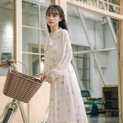 雪纺连衣裙2020新款甜美初恋裙子女学生韩版宽松仙女裙超仙森系裙