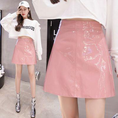 超短款迷你半身裙女外穿秋冬装气质百搭PU皮紧身包臂裙短裙小皮裙