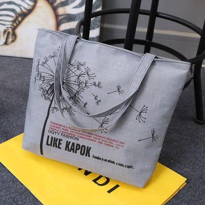 新款韩版时尚女包帆布包女单肩包布包休闲手提大包包学生书包购物