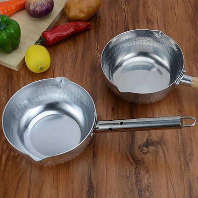 加厚铝制日式雪平锅奶锅汤锅煮面锅煮粥锅木柄牛奶锅汁锅麻辣烫锅