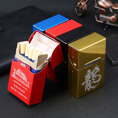 烟盒20支创意个性装便携金属硬包塑料烟盒超薄防压防潮香菸盒盒子