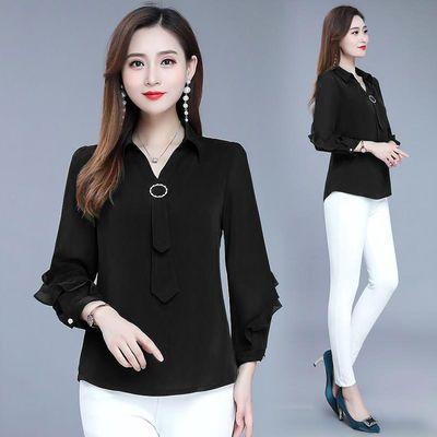 2020新款女装气质雪纺衫妈妈长袖衬衫洋气小衫早秋款上衣超仙