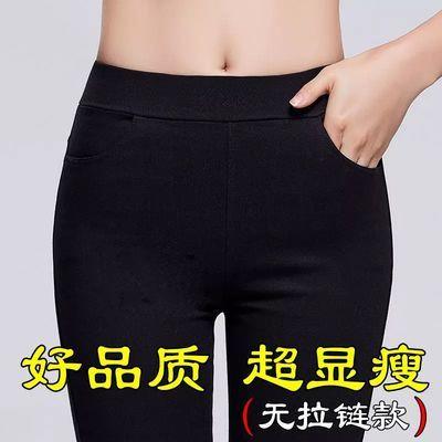 新款韩版女打底裤加厚加绒铅笔裤高腰显瘦秋冬小黑裤小脚裤魔术裤