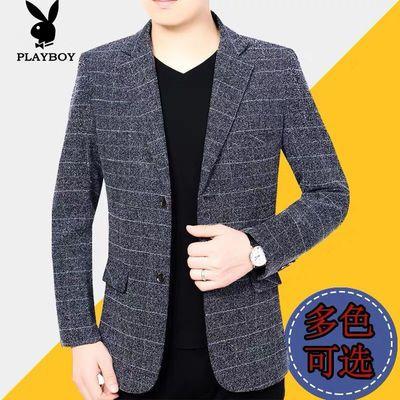 花花公子西服夹克男2020春秋季新款中年西装休闲男装男士薄款外套