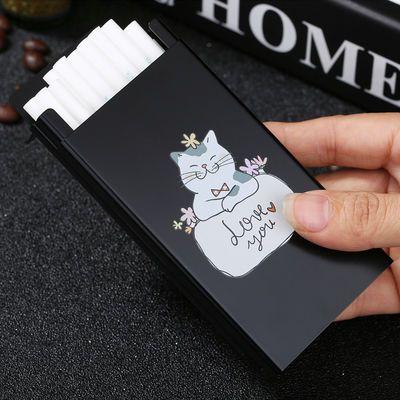 20支装铝合金属超薄个性UV彩印可爱猫咪卡通便携滑盖女士烟盒细烟