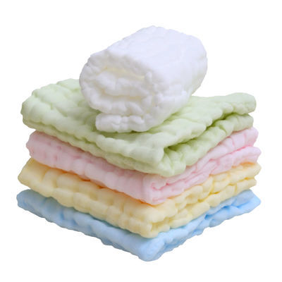 6层婴儿口水巾新生儿纱布洗脸巾宝宝纱布方巾洗脸毛巾喂奶巾5条装