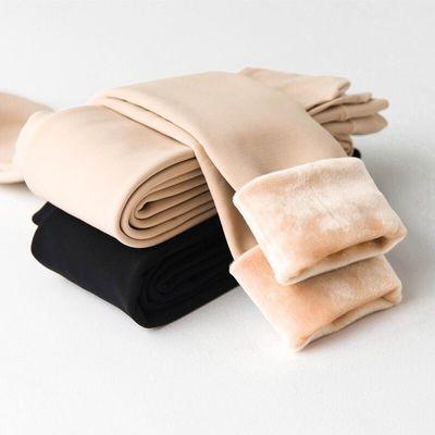 冬季加绒加厚打底裤肤色无缝一体裤显瘦超厚保暖裤高腰特厚棉裤女