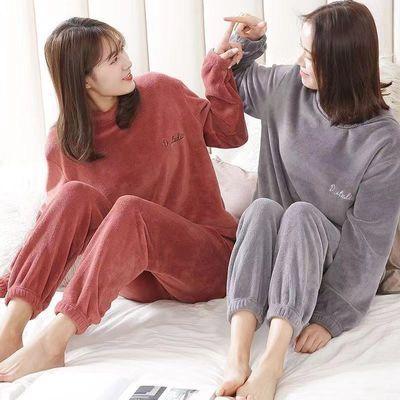 【冬季加厚款】仙女暖暖裤套装女秋冬季珊瑚绒保暖宽松大码睡衣女