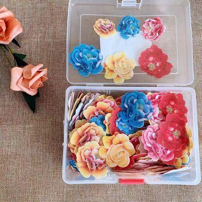 创意生日蛋糕装饰糯米纸蝴蝶牡丹花玫瑰花食用钱菜品摆盘点缀美金
