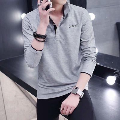 材质 棉;棉含量 95%以上;尺码 XXL 4XL 建议180斤以下 衣服偏小喜欢宽松的亲拍大一码 M L XL 3XL;面料分类 棉毛布;花型图案 纯色;领型 衬衫领;颜色 黑色草绿领 黑色果绿领 黑色蓝领 灰色黑领 黑色玫红领 藏青橙领 藏青灰领 蓝色黑领;袖型 常规;上市时间 2019年;货号 77;细分风格 精致韩风;基础风格 时尚都市;适用季节 秋季;袖长 长袖;厚薄 常规;适用场景 日常;版型 修身;服饰工艺 免烫处理;适用对象 青年;印花主题 品牌LOGO