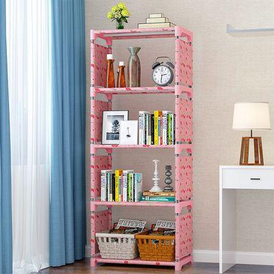 组合5层书架柜元简易书架加固书柜现代简约桌上书架置物架自由